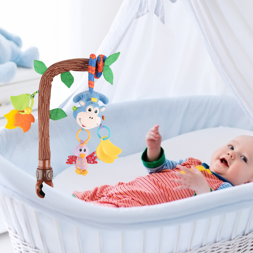 Newborn Baby Pram Handbell Bed Stroller Soft Hanging Toy Animal Rattles ONE