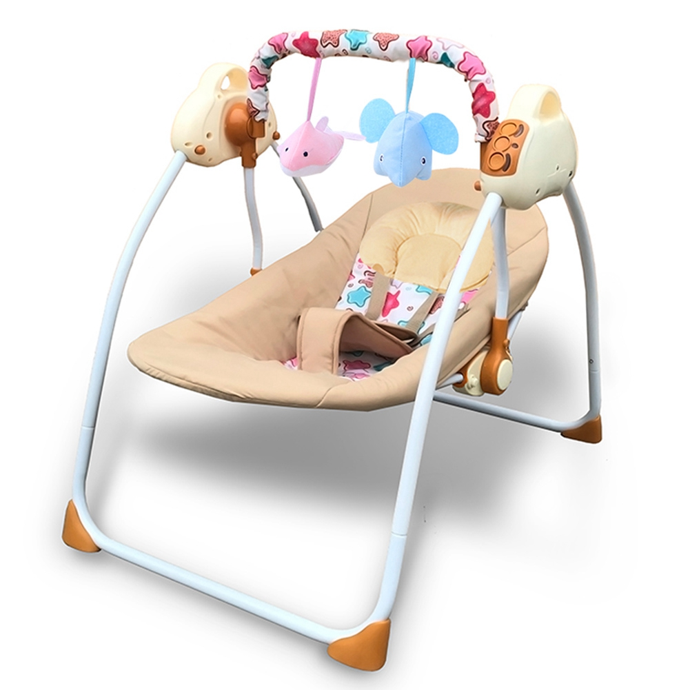 Brilliant Details About Baby Cradle To Sleep Musical Rocking Chair Electric Swing Bouncer Crib Motion Squirreltailoven Fun Painted Chair Ideas Images Squirreltailovenorg