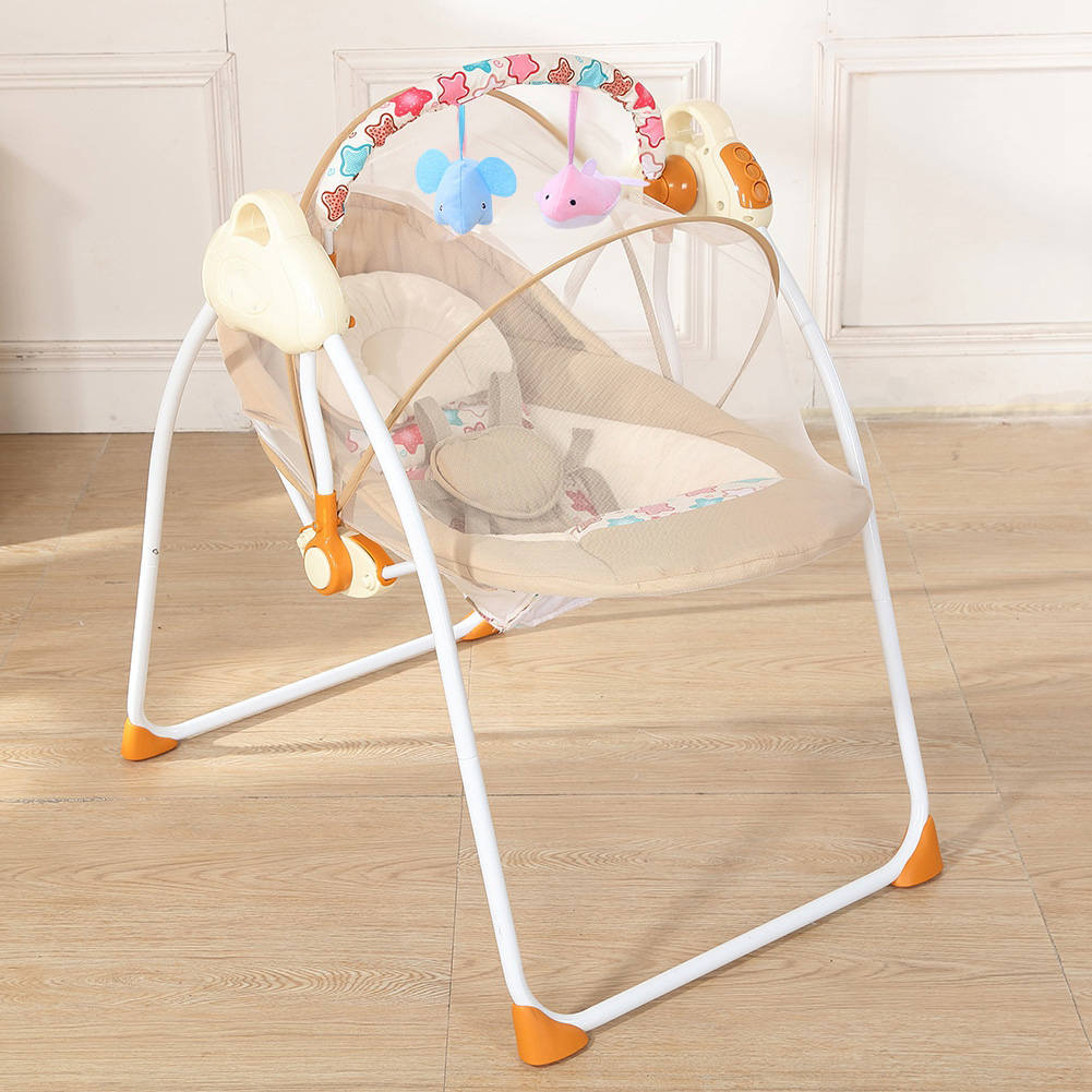 Cool Details About Folding Electric Baby Swing Cradle Newborn Rocking Chair Sleeping Crib Sleep Bed Inzonedesignstudio Interior Chair Design Inzonedesignstudiocom