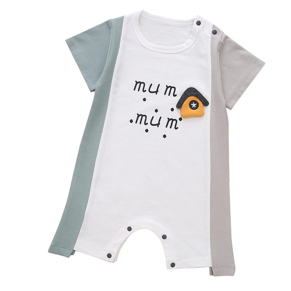 Cute-Short-Sleeves-Boys-Girls-Baby-Infant-Newborn-Jumpsuit-for-3-12-Months thumbnail 15