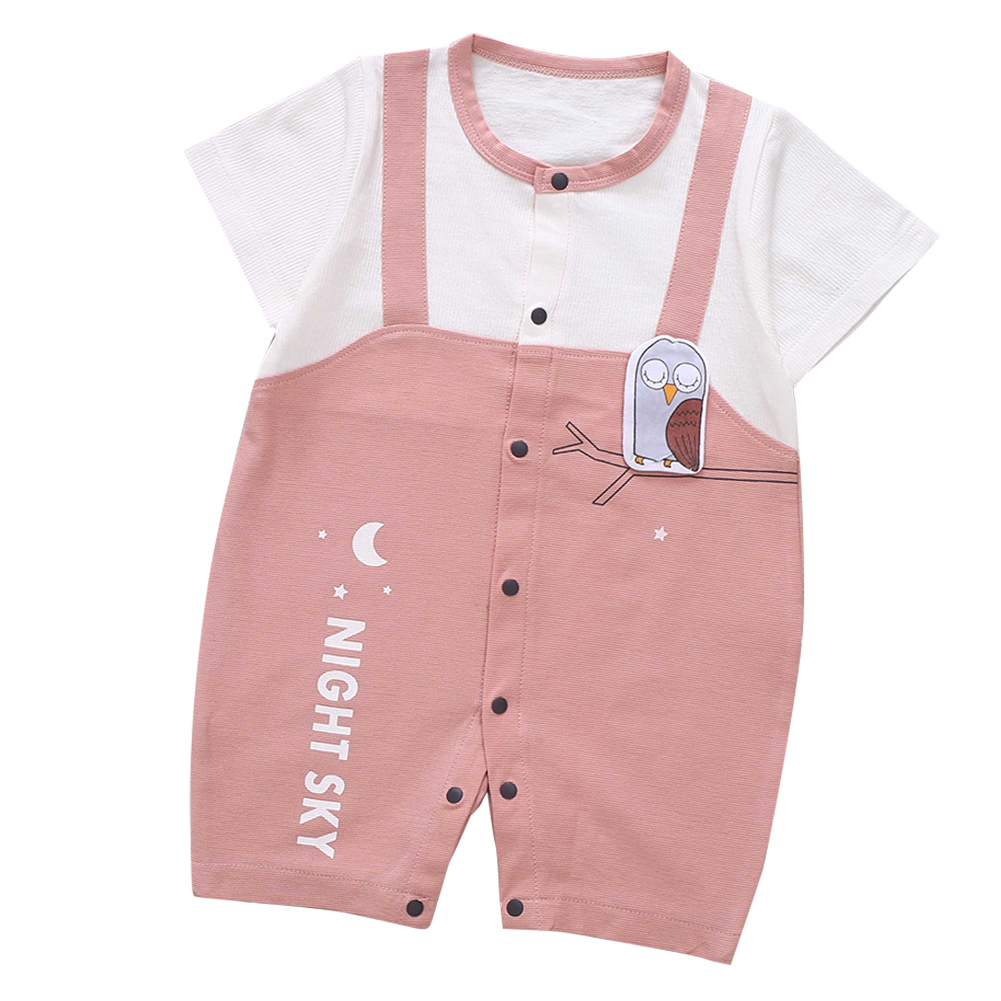 Cute-Short-Sleeves-Boys-Girls-Baby-Infant-Newborn-Jumpsuit-for-3-12-Months thumbnail 45