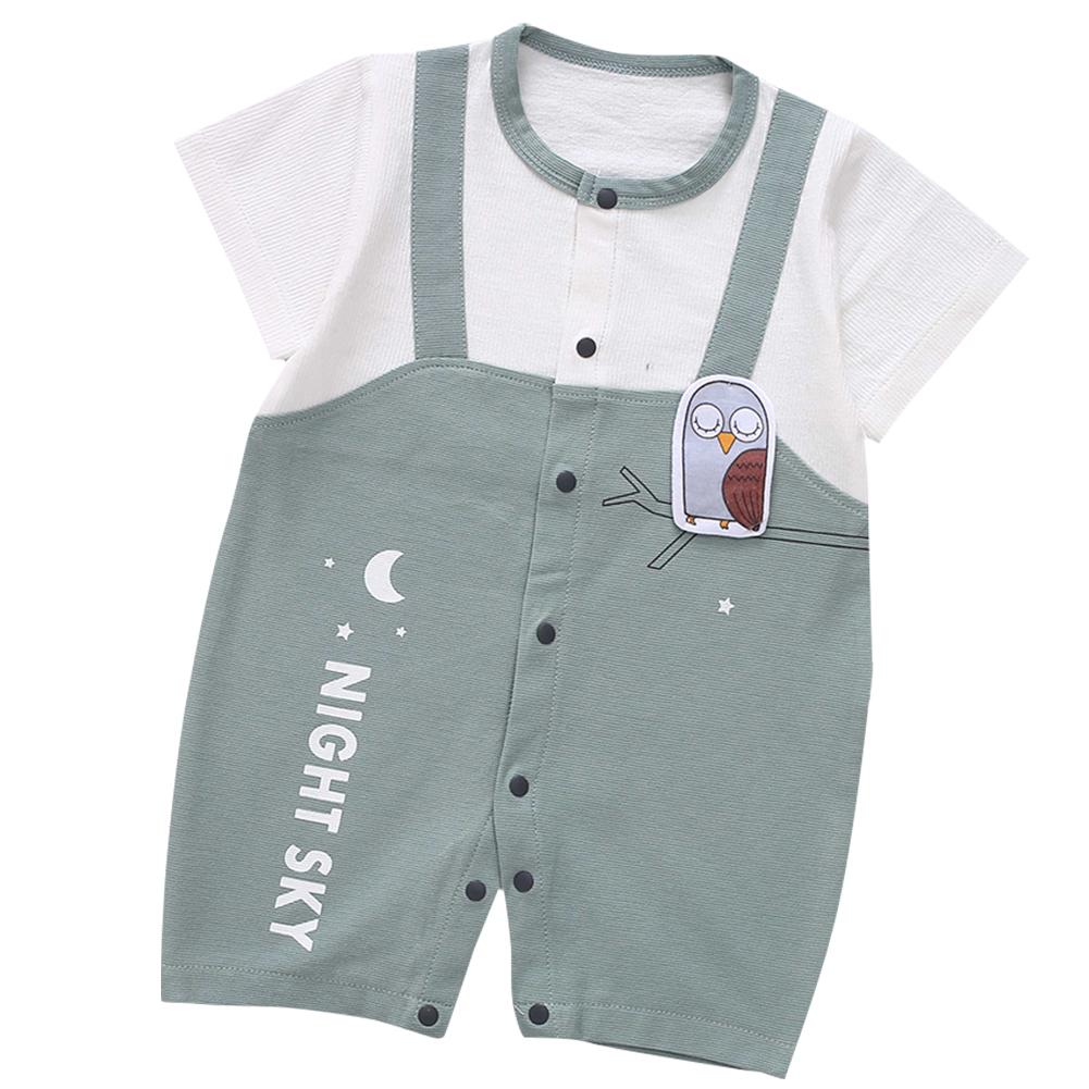 Cute-Short-Sleeves-Boys-Girls-Baby-Infant-Newborn-Jumpsuit-for-3-12-Months thumbnail 48
