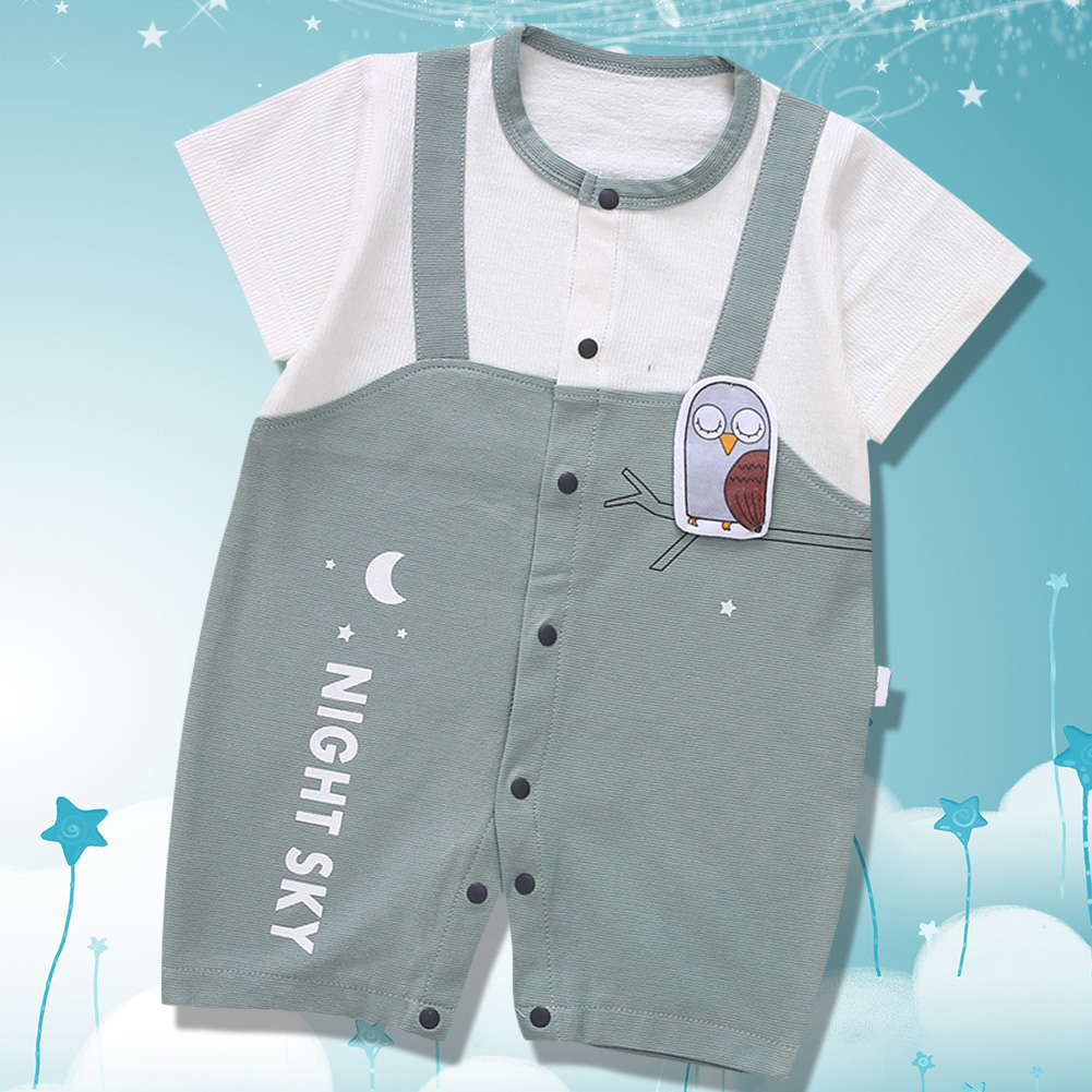 Cute-Short-Sleeves-Boys-Girls-Baby-Infant-Newborn-Jumpsuit-for-3-12-Months thumbnail 56