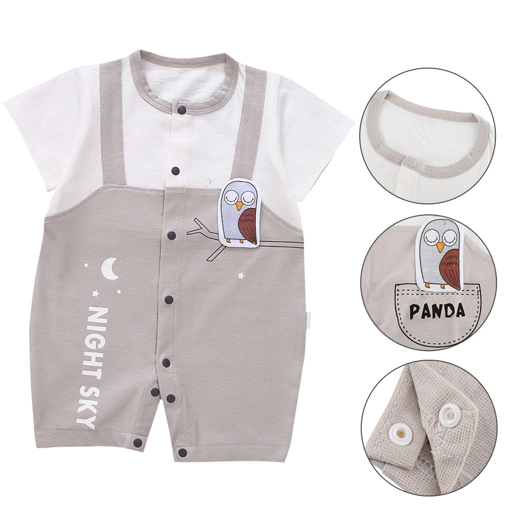 Cute-Short-Sleeves-Boys-Girls-Baby-Infant-Newborn-Jumpsuit-for-3-12-Months thumbnail 58