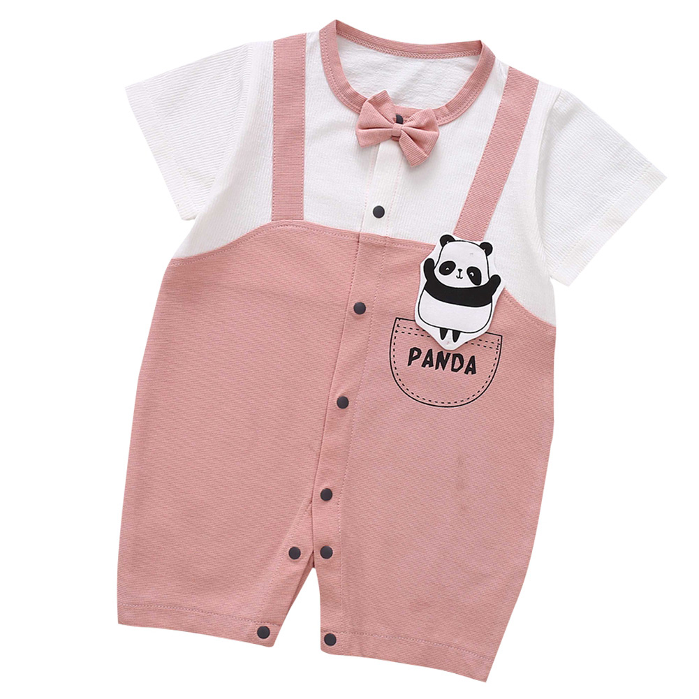 Cute-Short-Sleeves-Boys-Girls-Baby-Infant-Newborn-Jumpsuit-for-3-12-Months thumbnail 66
