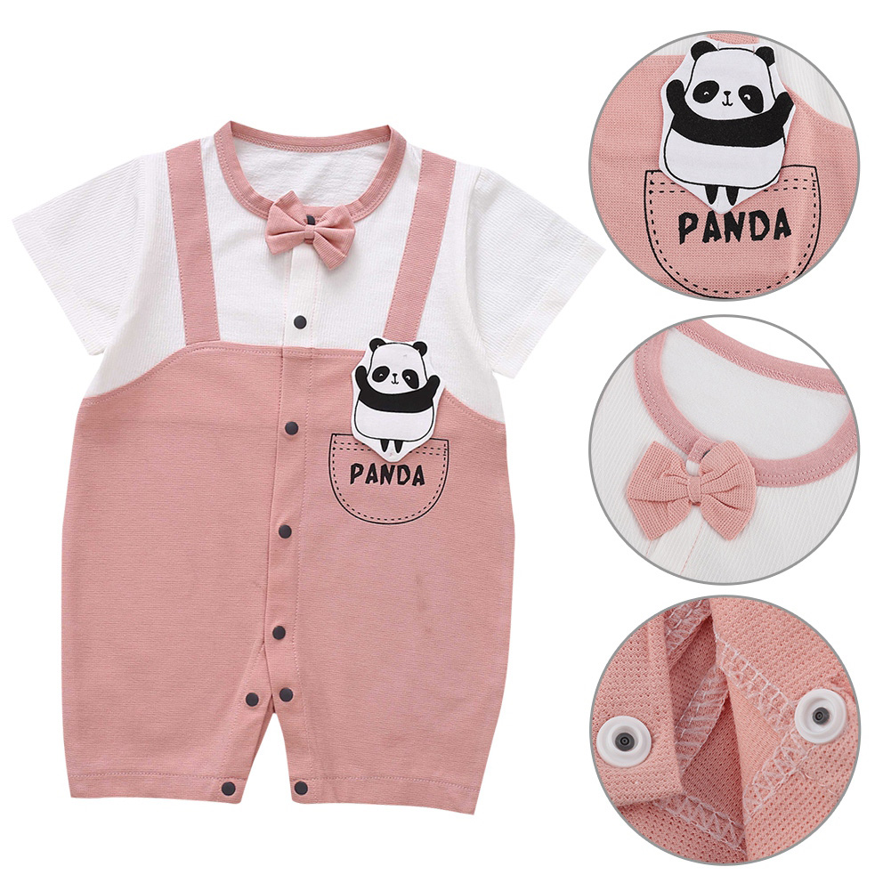Cute-Short-Sleeves-Boys-Girls-Baby-Infant-Newborn-Jumpsuit-for-3-12-Months thumbnail 70