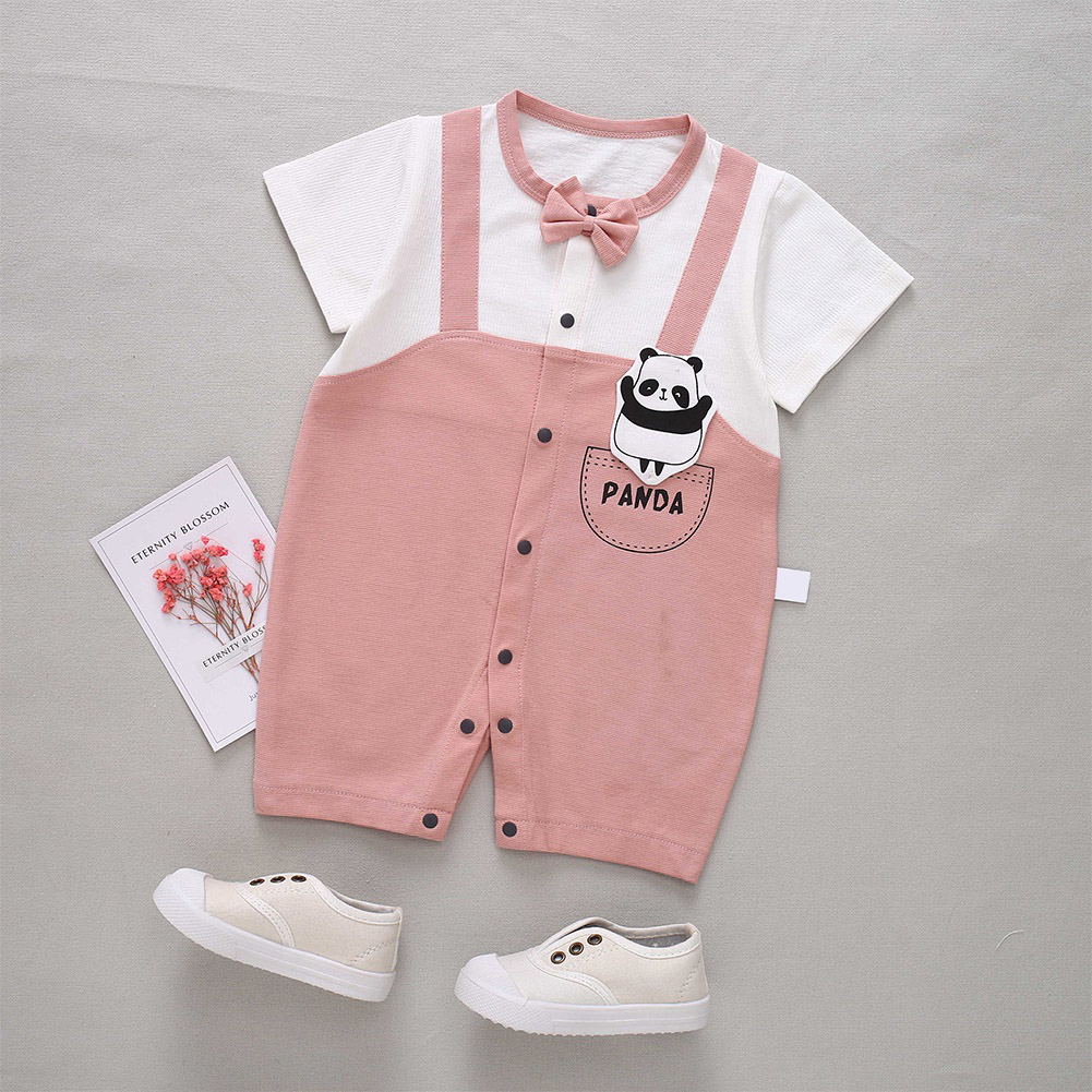 Cute-Short-Sleeves-Boys-Girls-Baby-Infant-Newborn-Jumpsuit-for-3-12-Months thumbnail 74