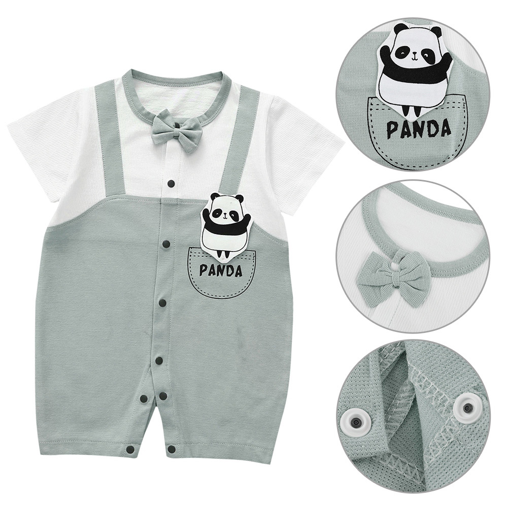 Cute-Short-Sleeves-Boys-Girls-Baby-Infant-Newborn-Jumpsuit-for-3-12-Months thumbnail 82