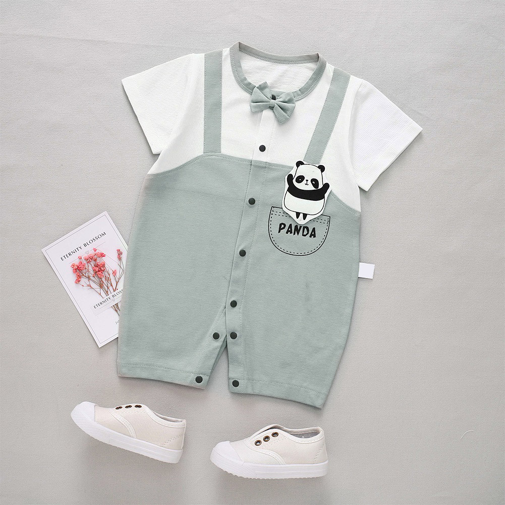 Cute-Short-Sleeves-Boys-Girls-Baby-Infant-Newborn-Jumpsuit-for-3-12-Months thumbnail 83