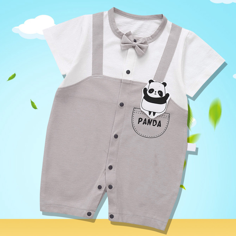 Cute-Short-Sleeves-Boys-Girls-Baby-Infant-Newborn-Jumpsuit-for-3-12-Months thumbnail 86