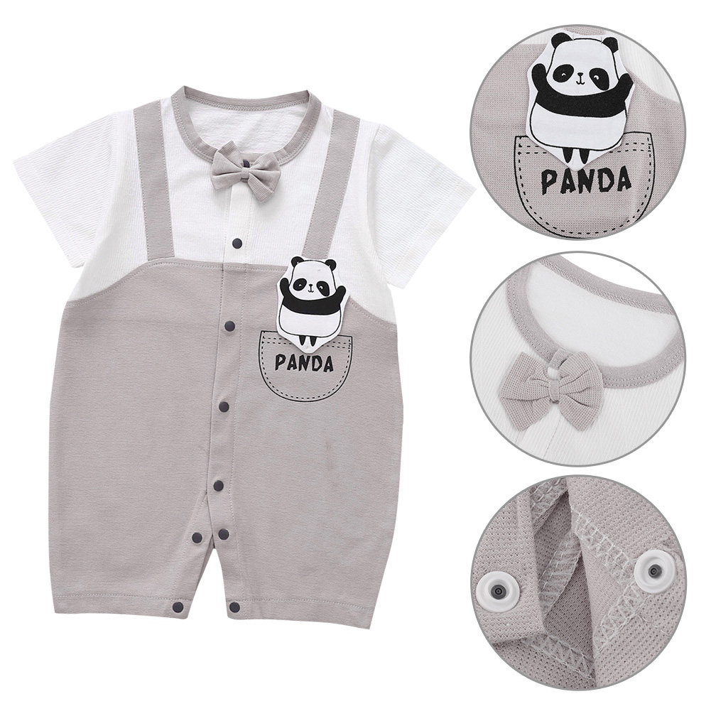 Cute-Short-Sleeves-Boys-Girls-Baby-Infant-Newborn-Jumpsuit-for-3-12-Months thumbnail 91