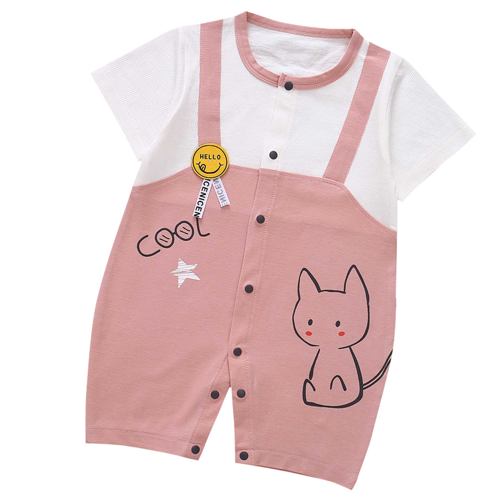 Cute-Short-Sleeves-Boys-Girls-Baby-Infant-Newborn-Jumpsuit-for-3-12-Months thumbnail 96