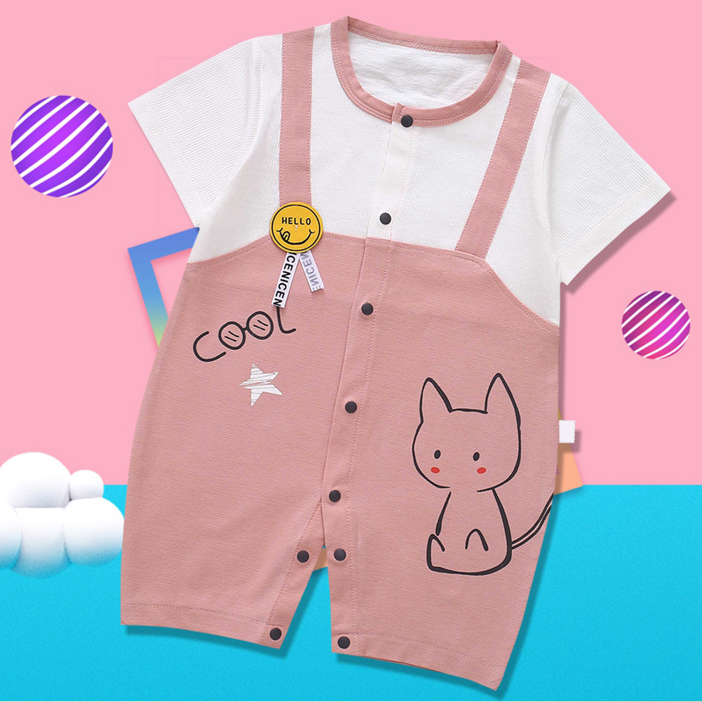 Cute-Short-Sleeves-Boys-Girls-Baby-Infant-Newborn-Jumpsuit-for-3-12-Months thumbnail 100