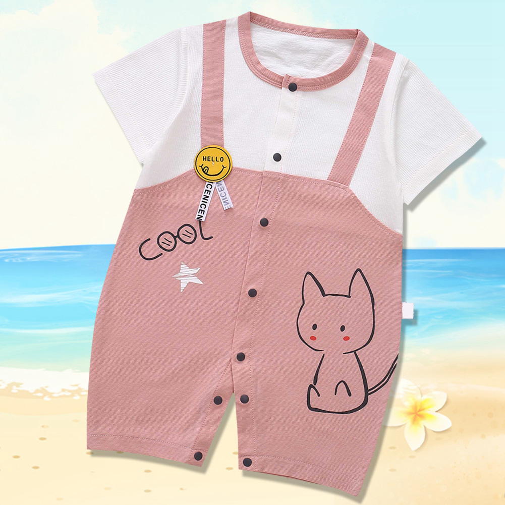 Cute-Short-Sleeves-Boys-Girls-Baby-Infant-Newborn-Jumpsuit-for-3-12-Months thumbnail 101