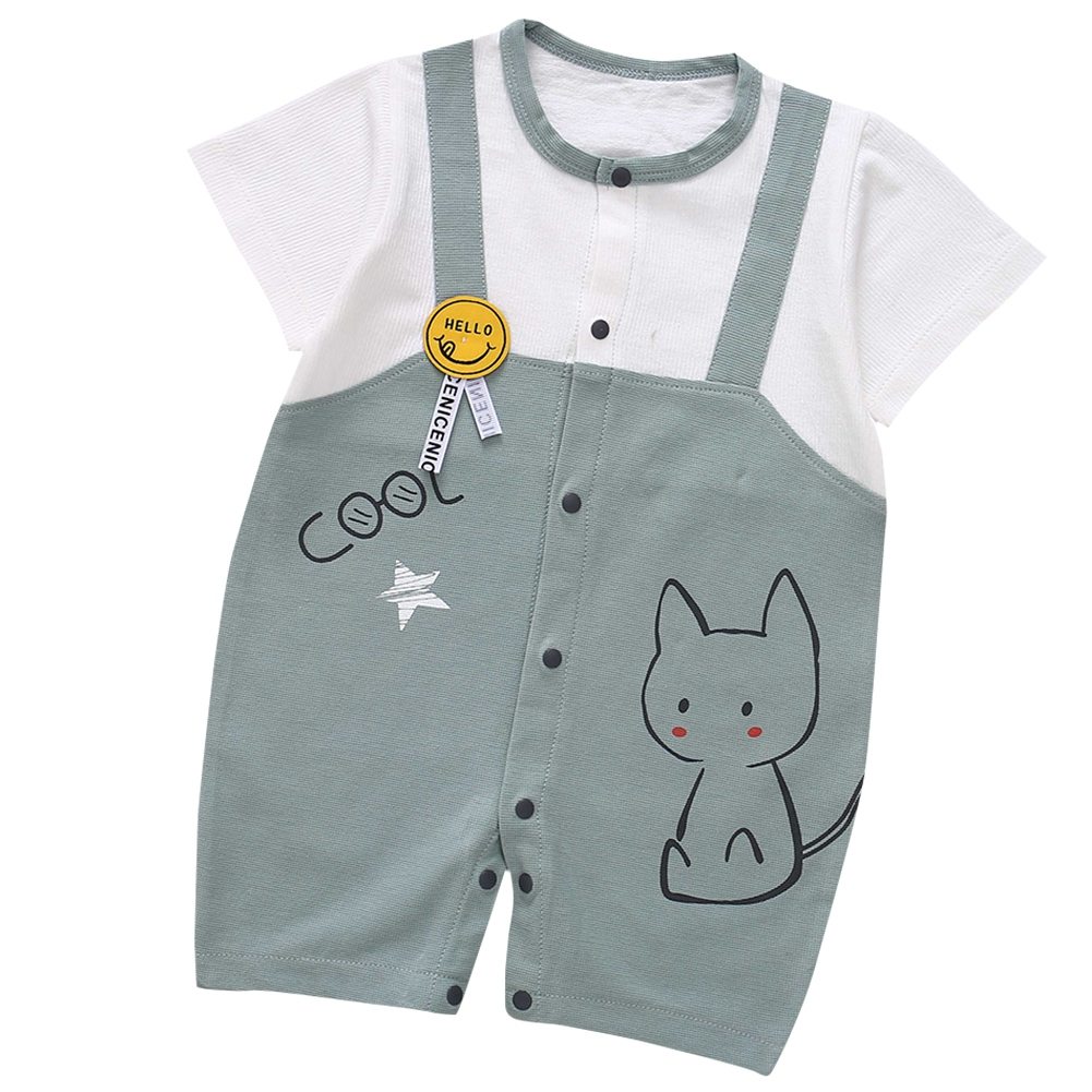 Cute-Short-Sleeves-Boys-Girls-Baby-Infant-Newborn-Jumpsuit-for-3-12-Months thumbnail 102