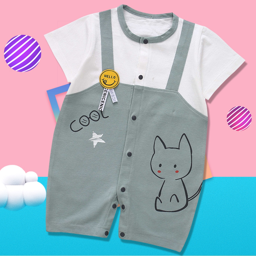 Cute-Short-Sleeves-Boys-Girls-Baby-Infant-Newborn-Jumpsuit-for-3-12-Months thumbnail 104