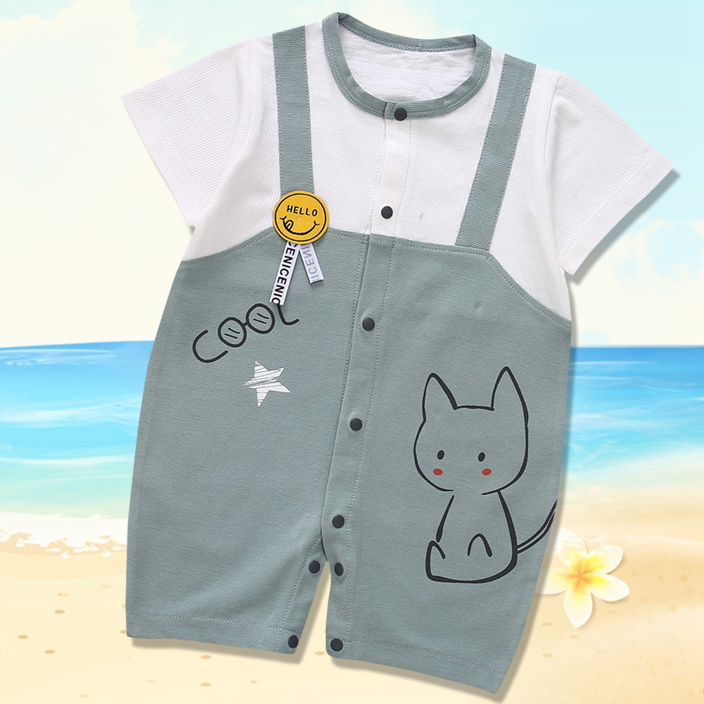 Cute-Short-Sleeves-Boys-Girls-Baby-Infant-Newborn-Jumpsuit-for-3-12-Months thumbnail 109