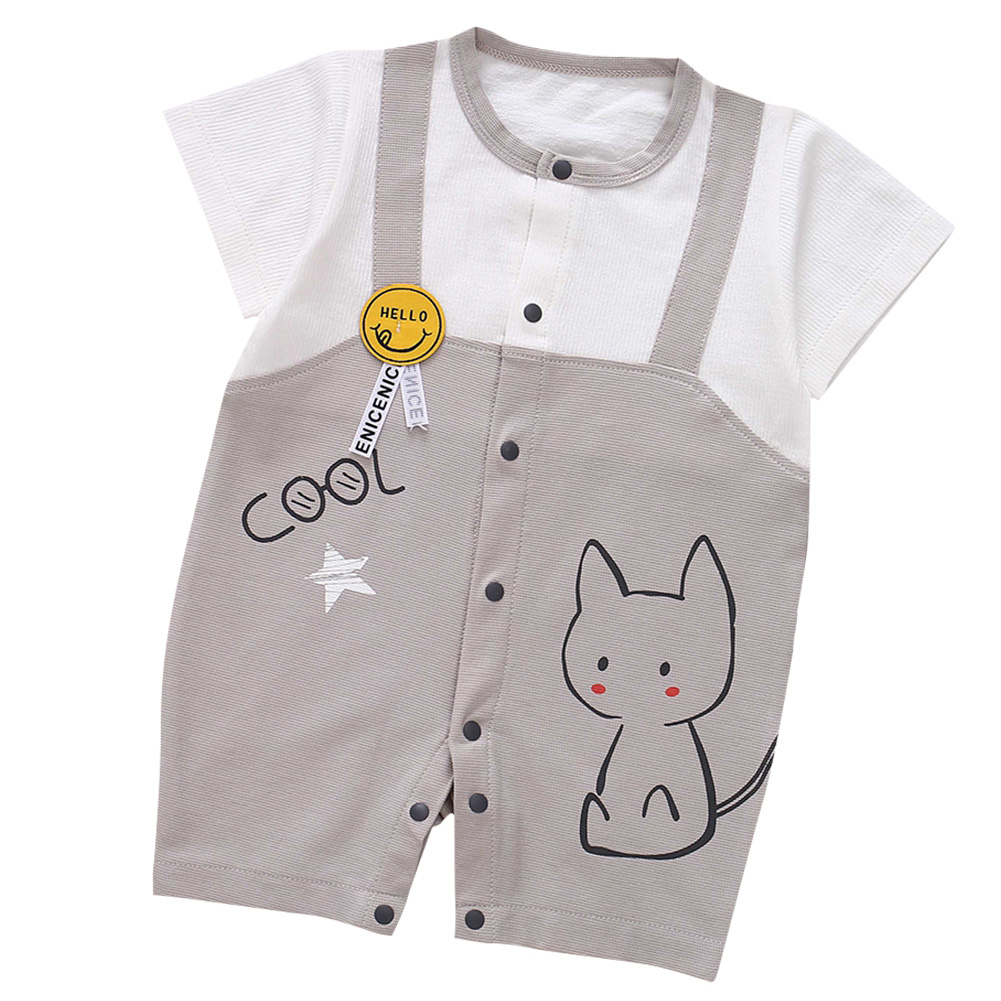 Cute-Short-Sleeves-Boys-Girls-Baby-Infant-Newborn-Jumpsuit-for-3-12-Months thumbnail 111