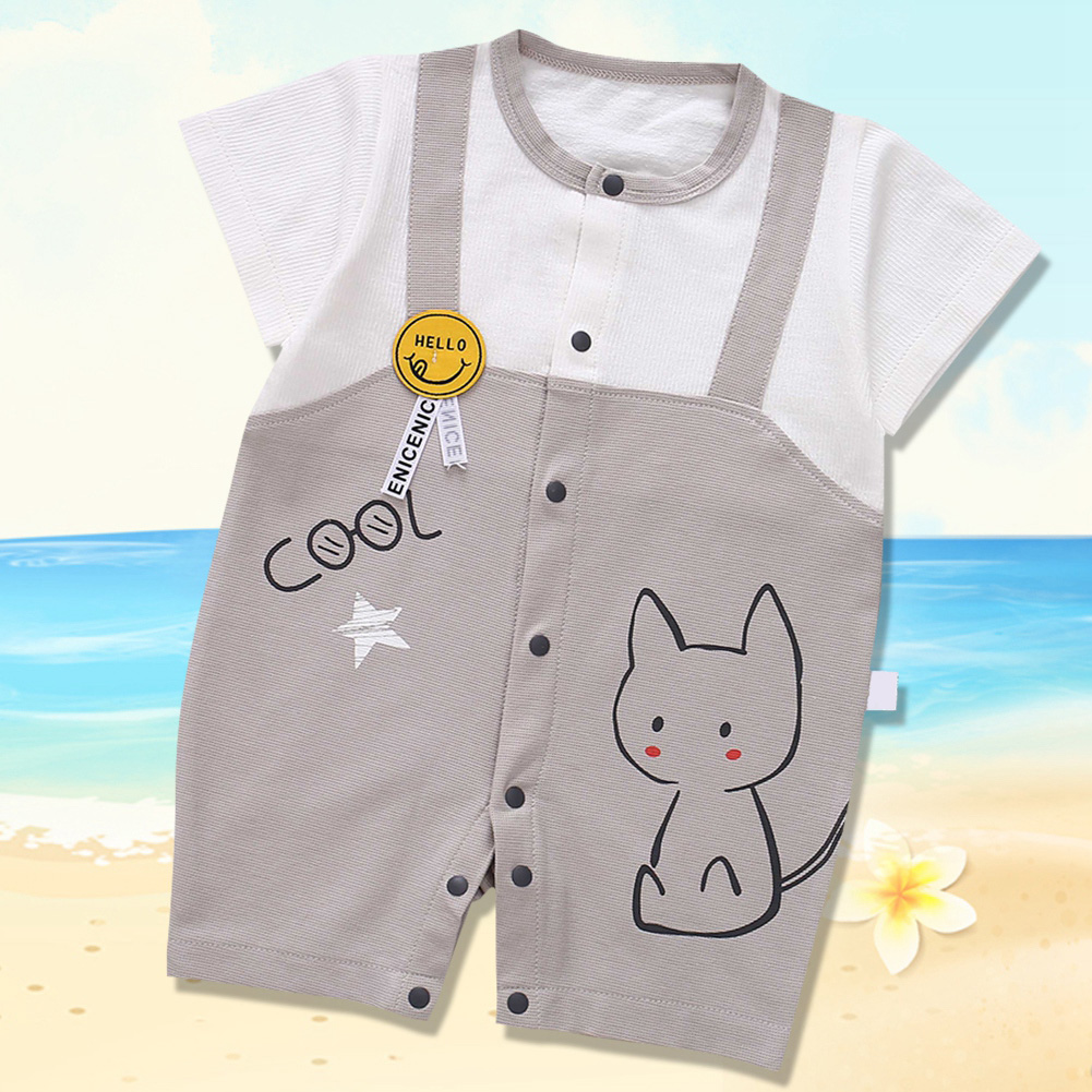 Cute-Short-Sleeves-Boys-Girls-Baby-Infant-Newborn-Jumpsuit-for-3-12-Months thumbnail 116