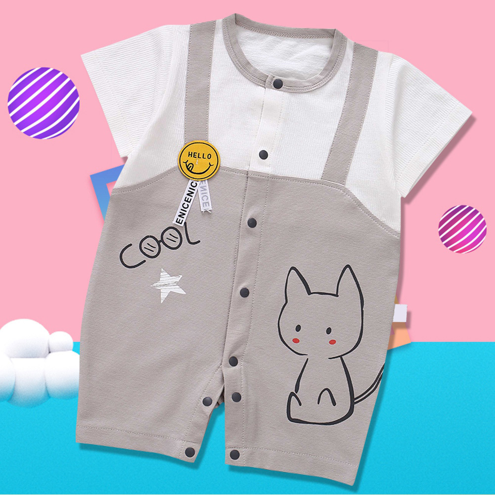 Cute-Short-Sleeves-Boys-Girls-Baby-Infant-Newborn-Jumpsuit-for-3-12-Months thumbnail 118