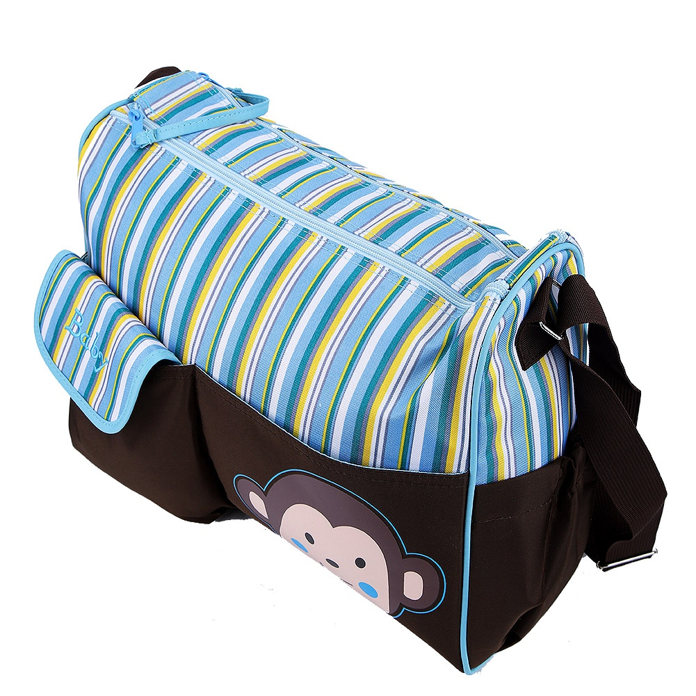 Fashion Nappy Diaper Bag Mummy Nursing Baby Care Backpack With USB Charging Port