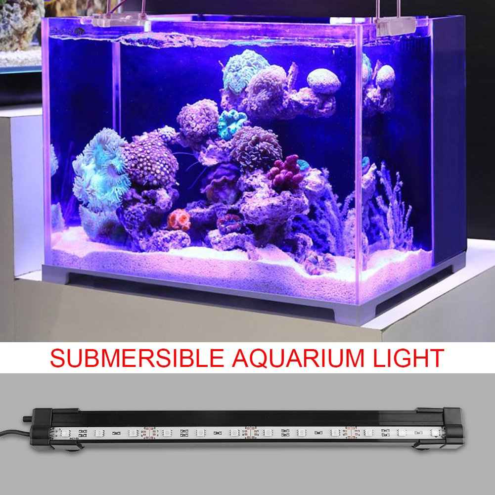 Fish-Tank-Aquarium-LED-Bar-Lights-Underwater-Submersible-Air-Bubble-Lamp-Color miniature 17
