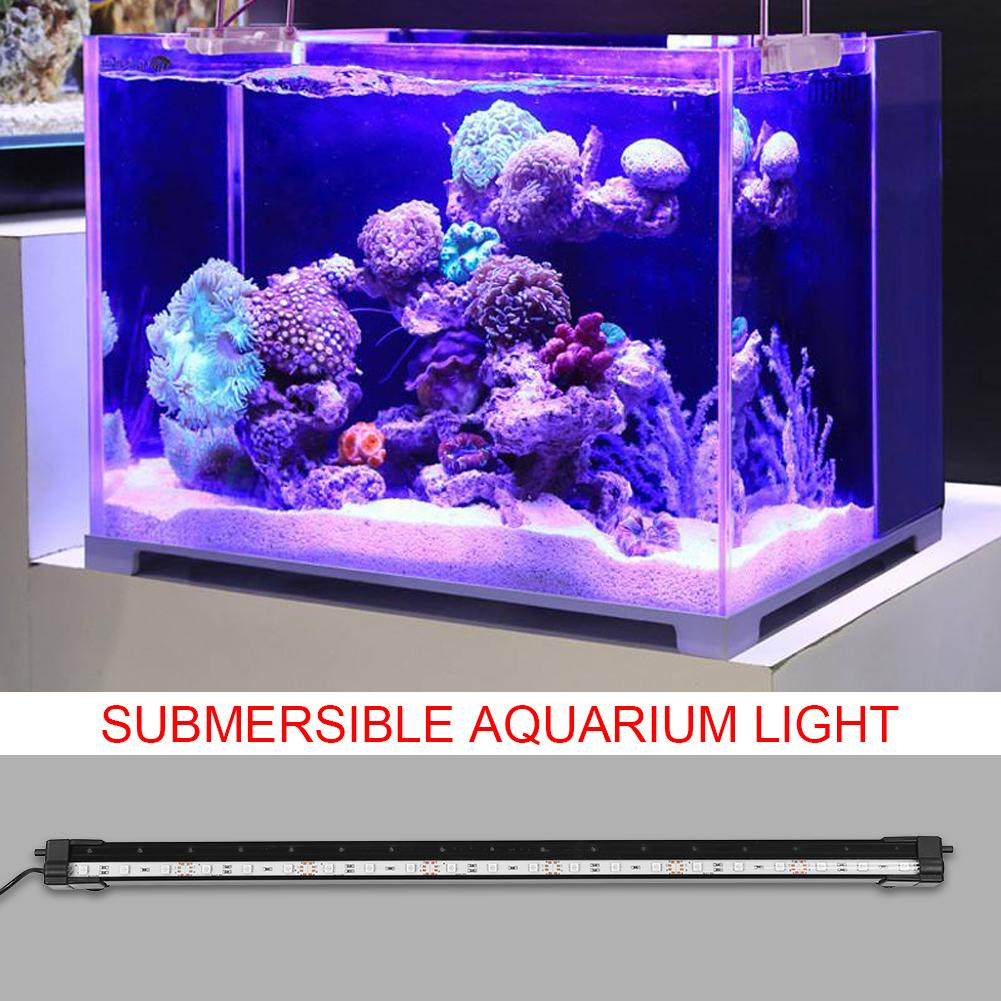 Fish-Tank-Aquarium-LED-Bar-Lights-Underwater-Submersible-Air-Bubble-Lamp-Color miniature 20