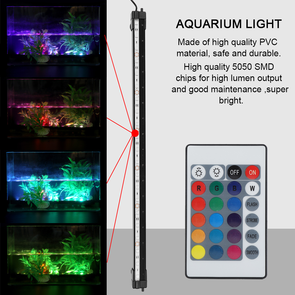 Fish-Tank-Aquarium-LED-Bar-Lights-Underwater-Submersible-Air-Bubble-Lamp-Color miniature 21
