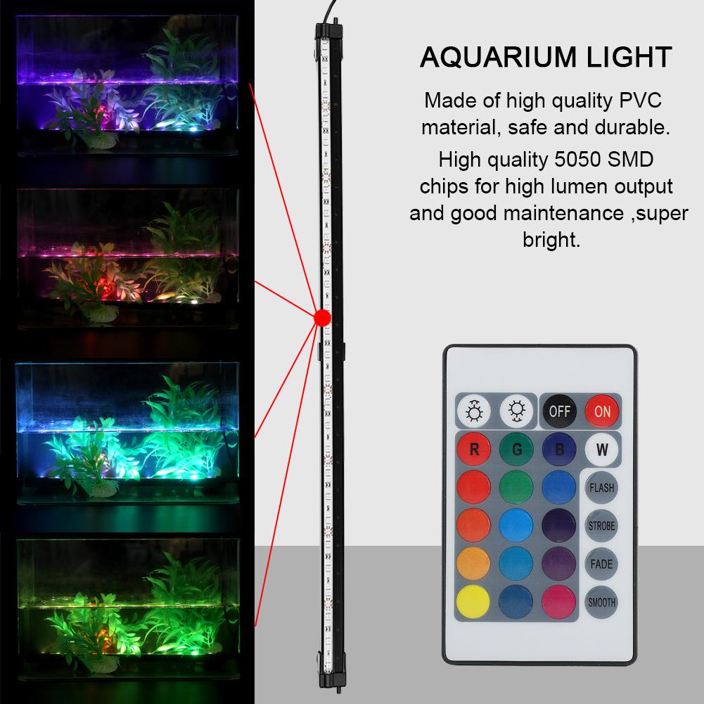 Fish-Tank-Aquarium-LED-Bar-Lights-Underwater-Submersible-Air-Bubble-Lamp-Color miniature 24
