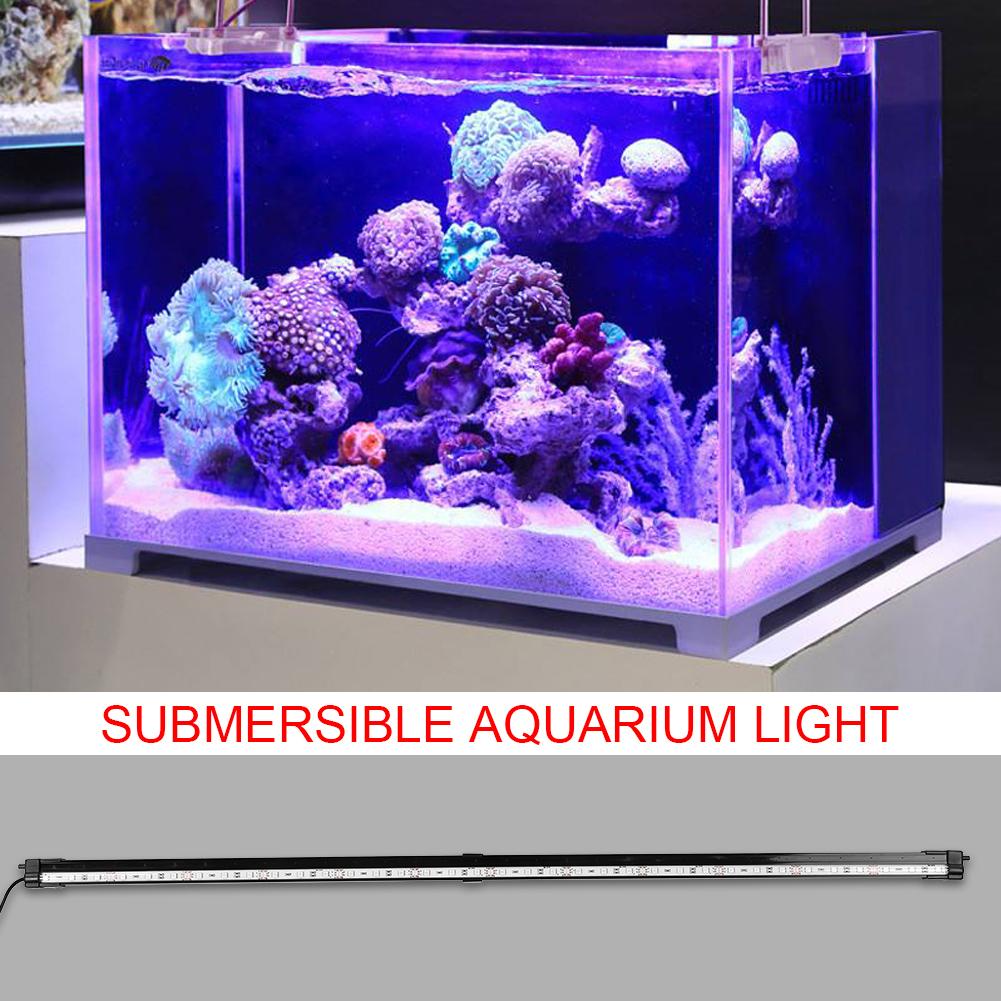 Fish-Tank-Aquarium-LED-Bar-Lights-Underwater-Submersible-Air-Bubble-Lamp-Color miniature 26