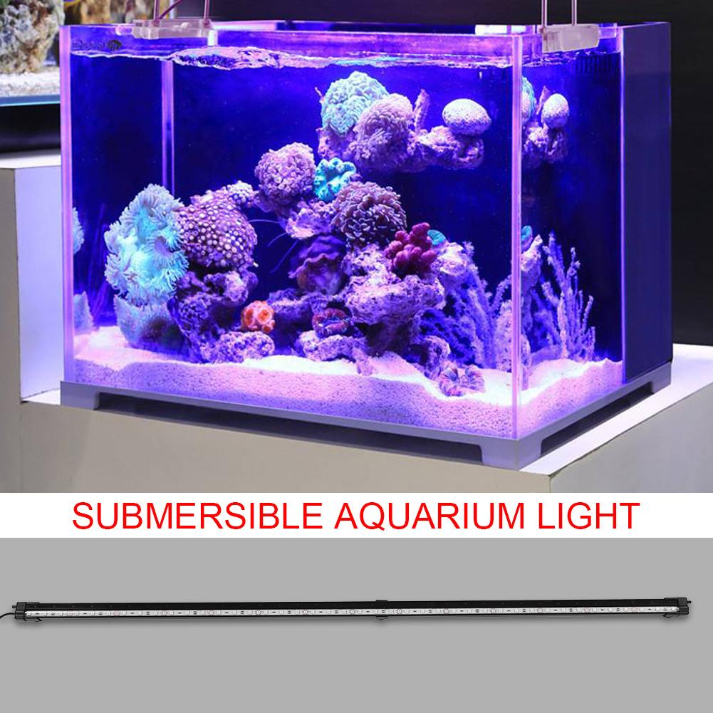 Fish-Tank-Aquarium-LED-Bar-Lights-Underwater-Submersible-Air-Bubble-Lamp-Color miniature 29