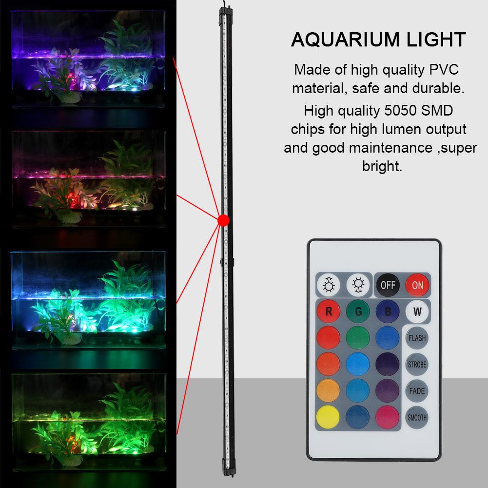 Fish-Tank-Aquarium-LED-Bar-Lights-Underwater-Submersible-Air-Bubble-Lamp-Color miniature 30