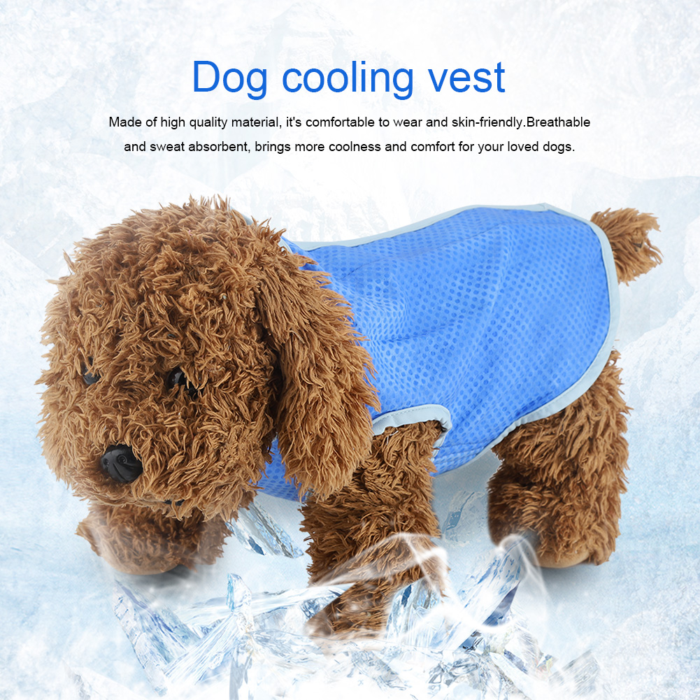 Summer-Dog-Cooling-Vest-Dog-Cooling-Harness-For-Dogs-Breathable-Pet-Mesh-Vest thumbnail 20