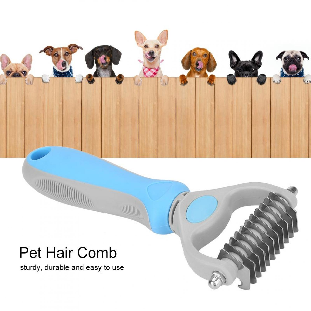 Pet-Cat-Dog-Dematting-Grooming-Deshedding-Trimmer-Tool-Hair-Comb-Brush-Rake