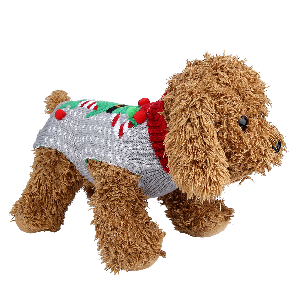 Christmas-Reindeer-Pet-Puppy-Cat-Dog-Sweater-Striped-Knit-Crocheted-Knitwear thumbnail 24