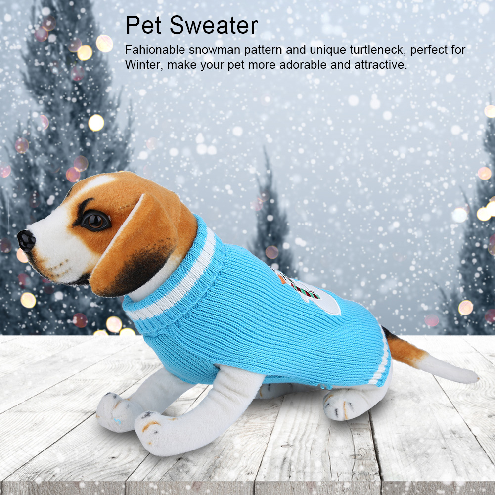 Christmas-Reindeer-Pet-Puppy-Cat-Dog-Sweater-Striped-Knit-Crocheted-Knitwear thumbnail 27