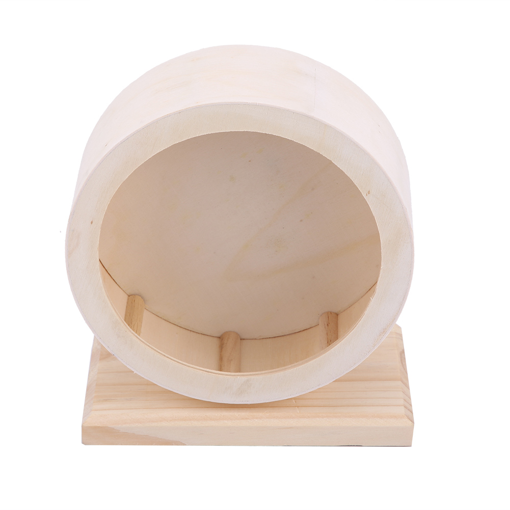 Wooden-Hamster-Mouse-Rat-Mice-Exercise-Running-Wheel-Pet-Playing-Toy-Cage-Decor thumbnail 14