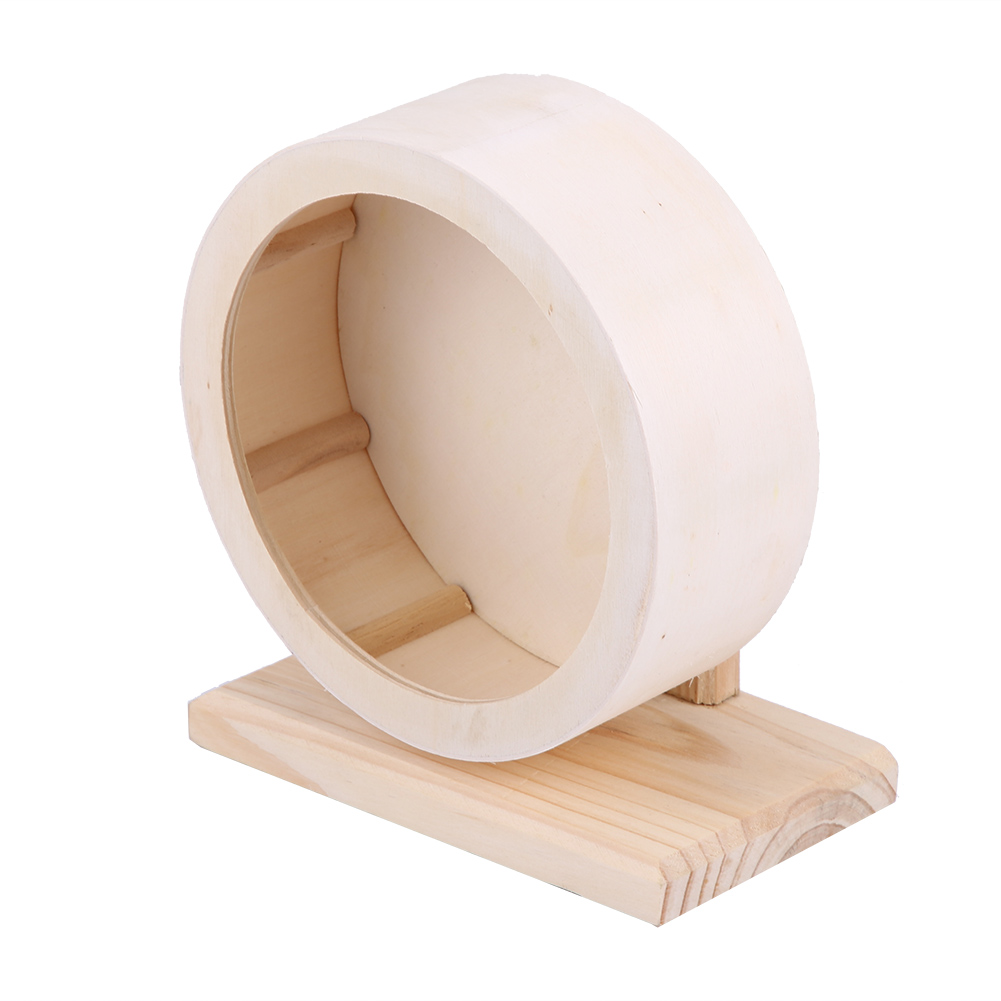 Wooden-Hamster-Mouse-Rat-Mice-Exercise-Running-Wheel-Pet-Playing-Toy-Cage-Decor thumbnail 15