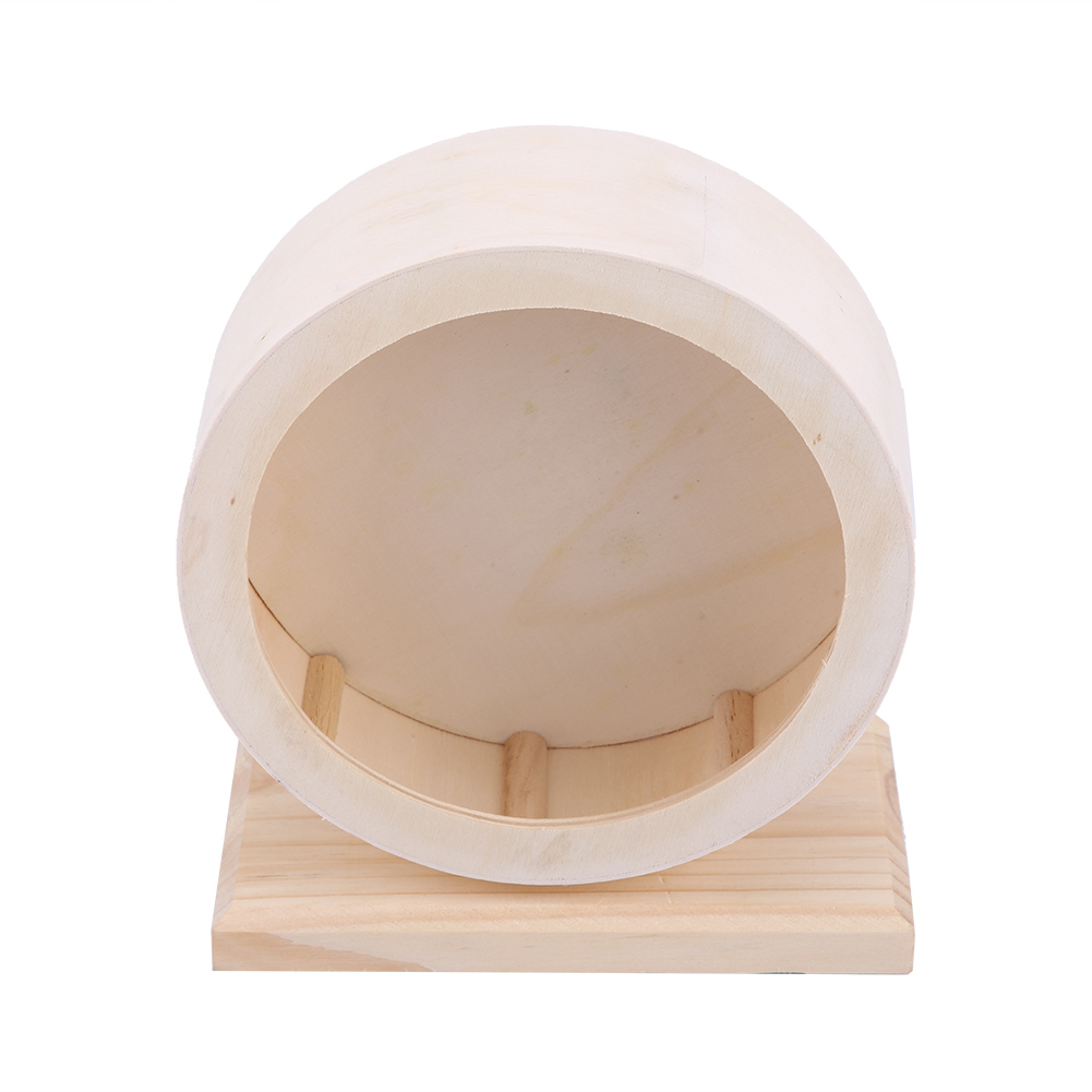Wooden-Hamster-Mouse-Rat-Mice-Exercise-Running-Wheel-Pet-Playing-Toy-Cage-Decor thumbnail 17