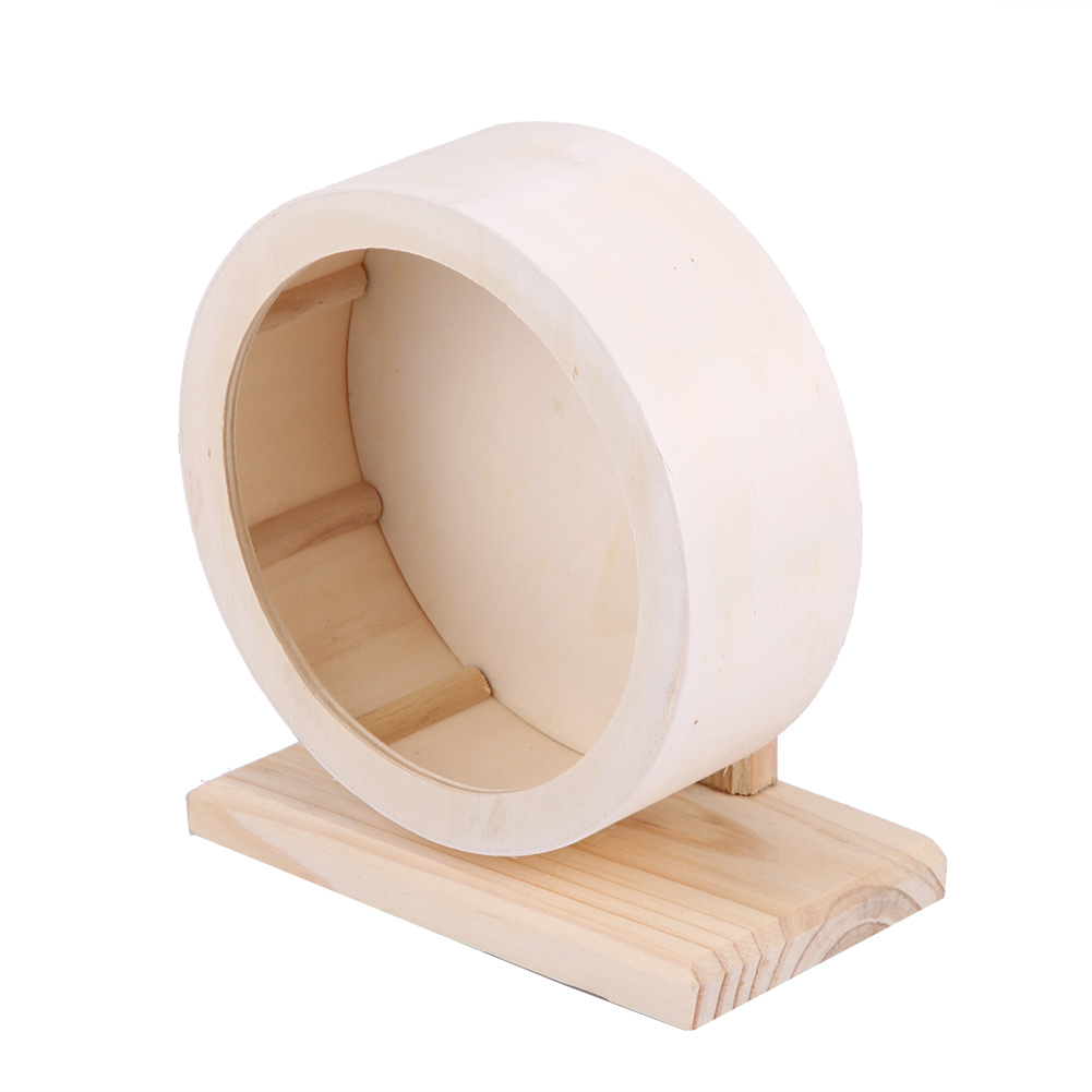 Wooden-Hamster-Mouse-Rat-Mice-Exercise-Running-Wheel-Pet-Playing-Toy-Cage-Decor thumbnail 18