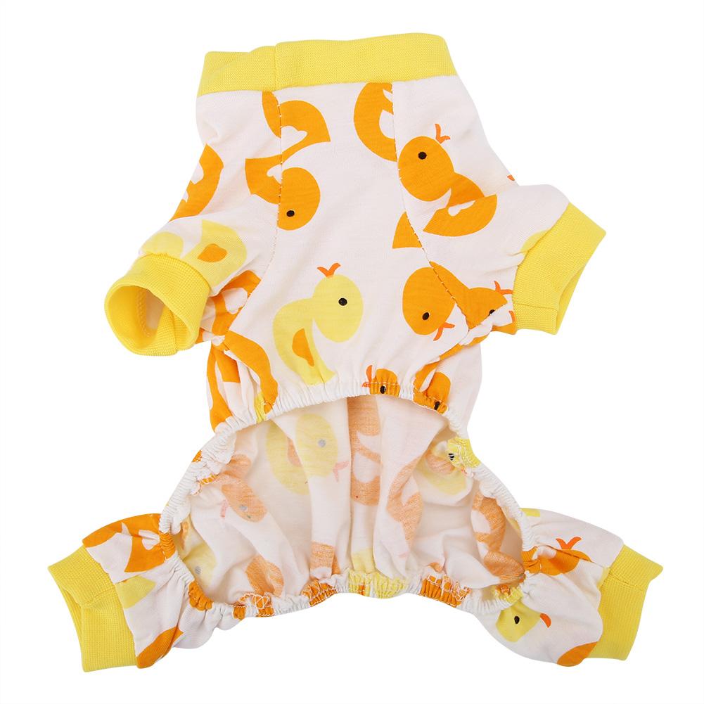 Cartoon-Duck-Pattern-Dog-Puppy-Pet-Jumpsuit-Pajamas-Warm-Jacket-Coat-Clothes thumbnail 14