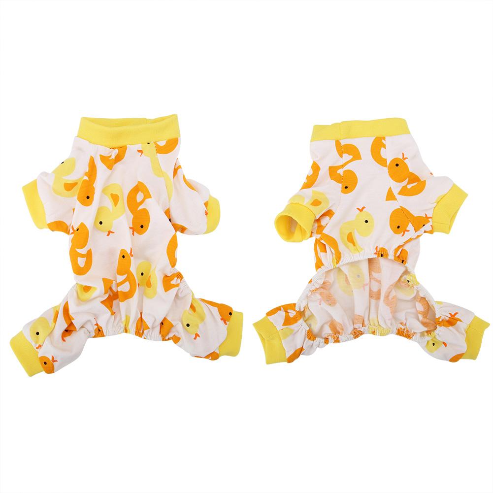 Cartoon-Duck-Pattern-Dog-Puppy-Pet-Jumpsuit-Pajamas-Warm-Jacket-Coat-Clothes thumbnail 15