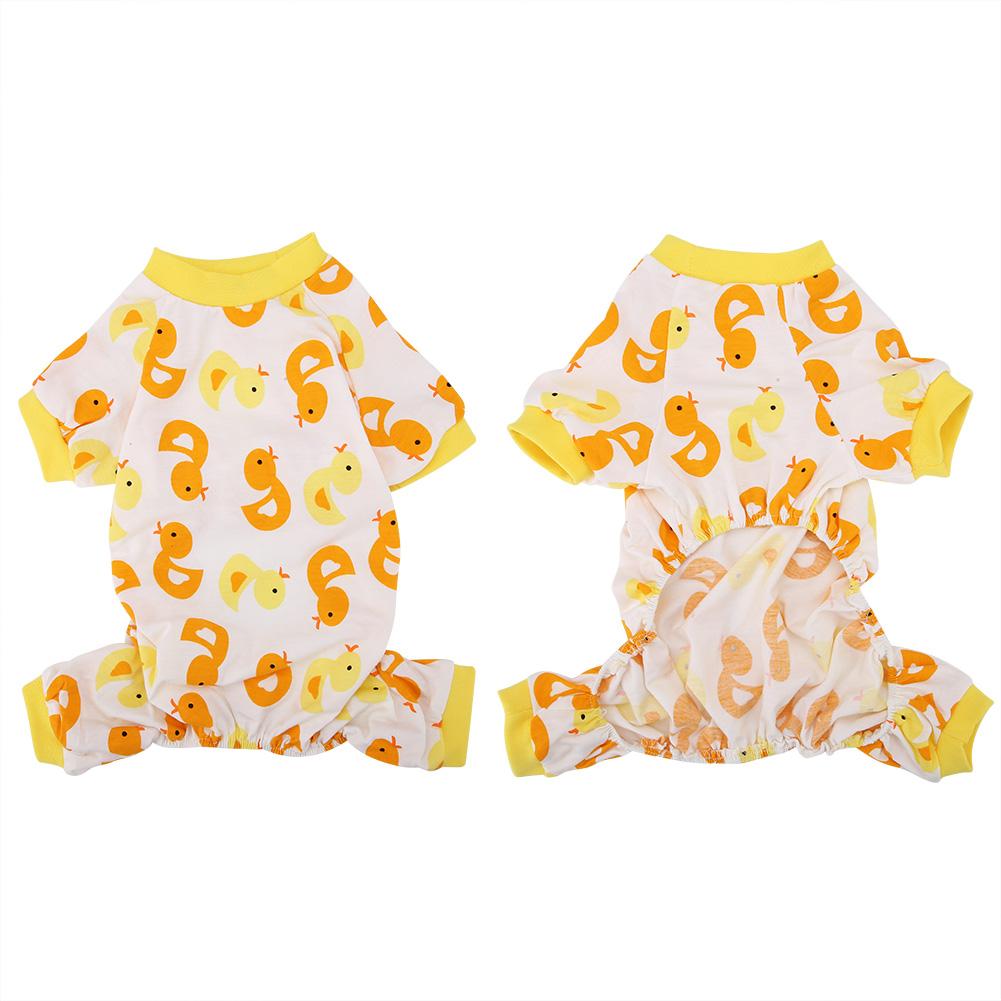 Cartoon-Duck-Pattern-Dog-Puppy-Pet-Jumpsuit-Pajamas-Warm-Jacket-Coat-Clothes thumbnail 24