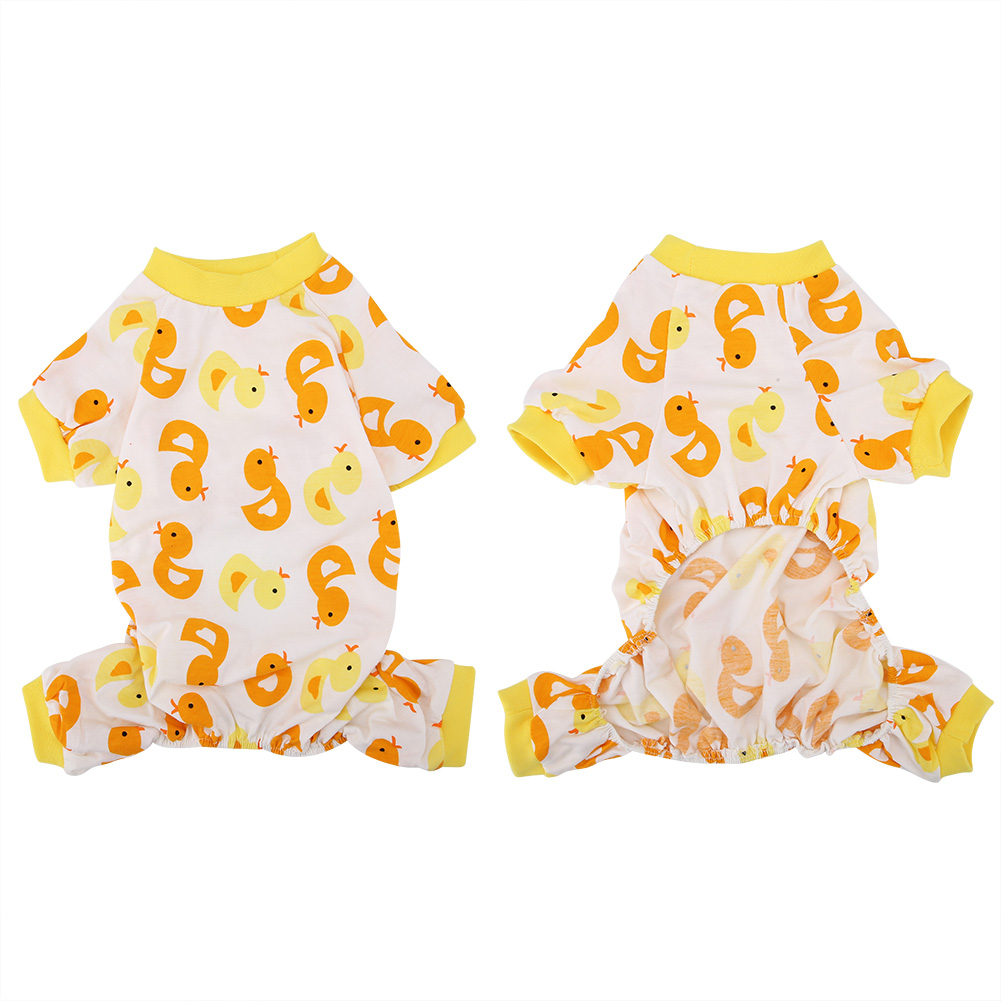 Cartoon-Duck-Pattern-Dog-Puppy-Pet-Jumpsuit-Pajamas-Warm-Jacket-Coat-Clothes thumbnail 27