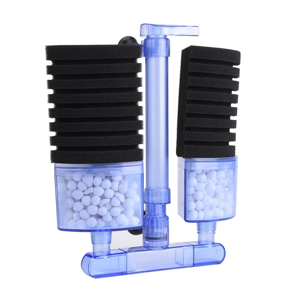 Aquarium-Fish-Tank-Biochemical-Sponge-Filter-Air-Pump-Double-Head-w-Suction-Cup thumbnail 24
