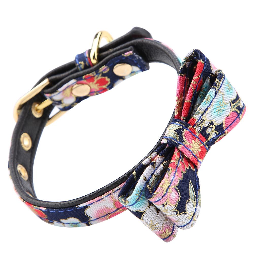 Colorful-Leather-Personalized-Engraved-Dog-Collar-Puppy-Cat-Pet-Collars-ID-Tag thumbnail 42