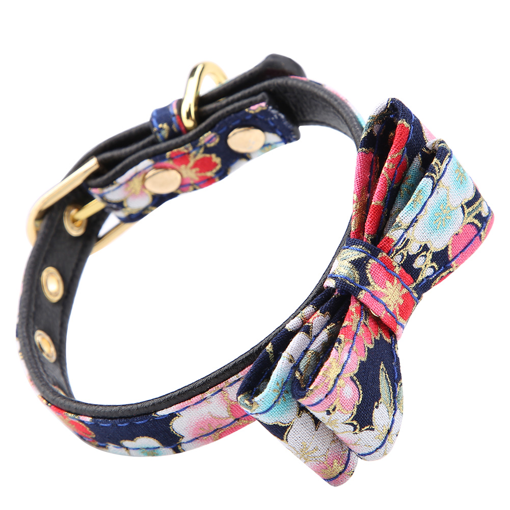 Colorful-Leather-Personalized-Engraved-Dog-Collar-Puppy-Cat-Pet-Collars-ID-Tag thumbnail 45