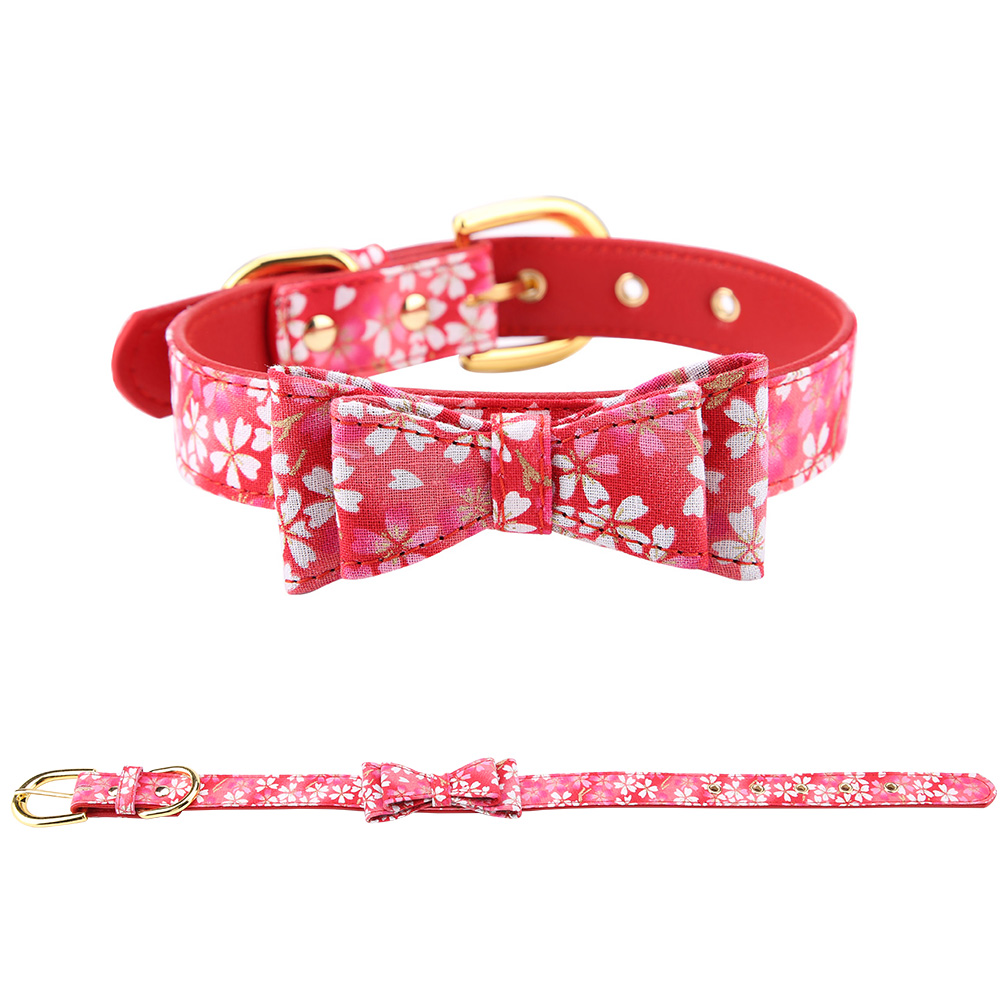 Colorful-Leather-Personalized-Engraved-Dog-Collar-Puppy-Cat-Pet-Collars-ID-Tag thumbnail 63