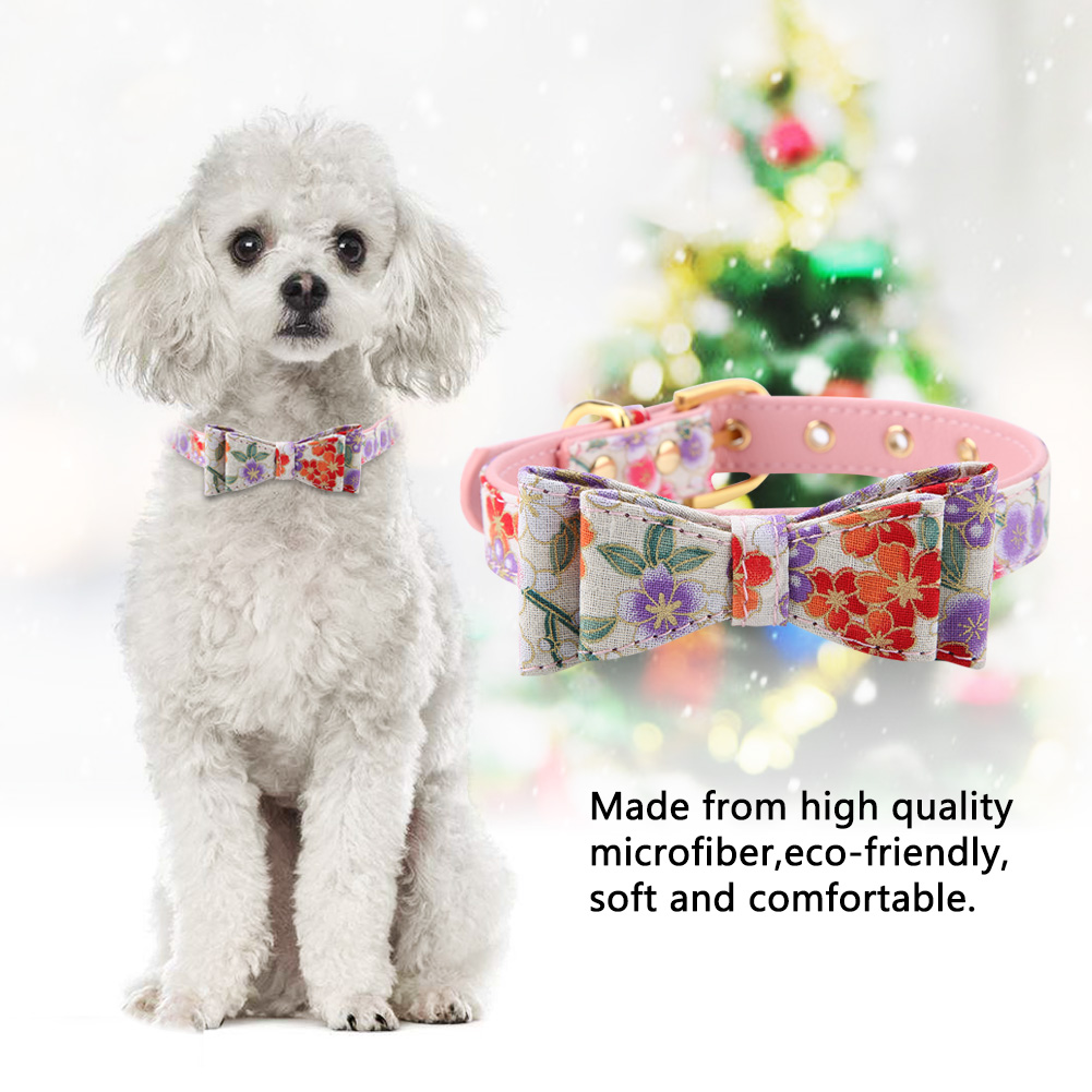 Colorful-Leather-Personalized-Engraved-Dog-Collar-Puppy-Cat-Pet-Collars-ID-Tag thumbnail 78