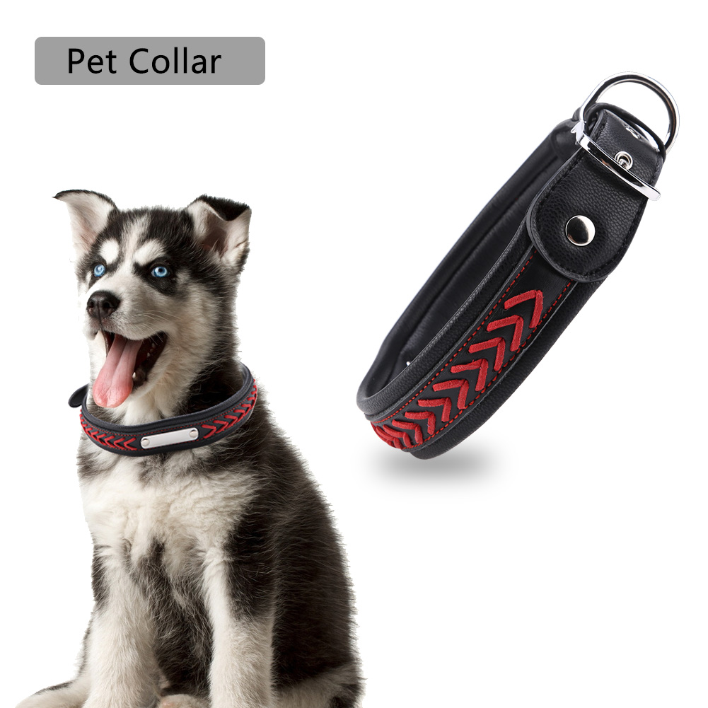 Colorful-Leather-Personalized-Engraved-Dog-Collar-Puppy-Cat-Pet-Collars-ID-Tag thumbnail 197